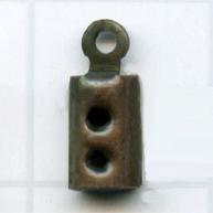 eindklemmen 2mm brons rechthoek