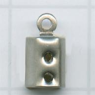 eindklemmen 3mm zilver rechthoek