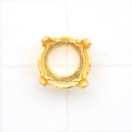 settings 8mm goud rond metaal kleurnummer 737