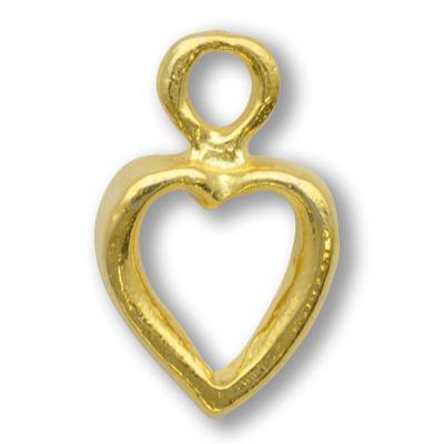 bedels 20mm goud hartje tin