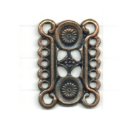 tussenzetsels 27mm brons rij tin