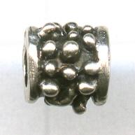kralen 7mm oudzilver cilinder metaal