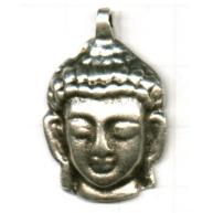hangers 32mm oudzilver buddha metaal