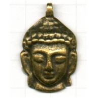 bedels 32mm oudgoud boeddha metaal