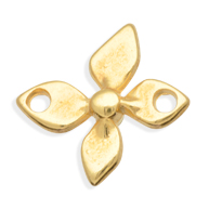 tussenzetsels 18mm goud bloem tin