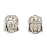 kralen 10mm oudzilver boeddha tin