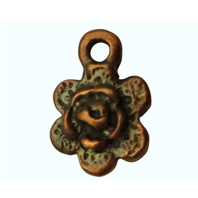 bedels 14mm brons bloem tin