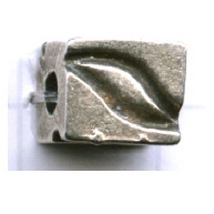 kralen 9mm oudzilver blokje tin