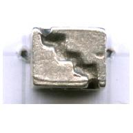 kralen 9mm oudzilver blokje2 tin