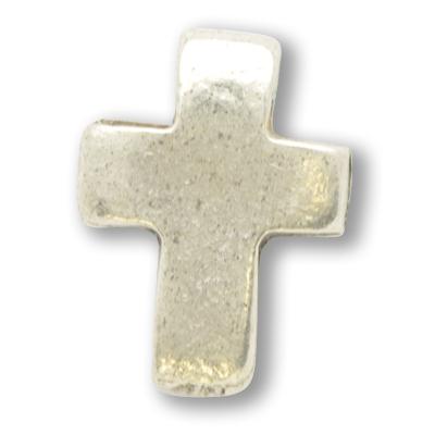 kralen 16mm oudzilver kruis metaal