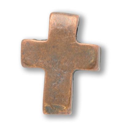 kralen 11mm brons kruis metaal