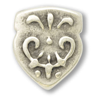 tussenzetsels 11mm oudzilver rond tin