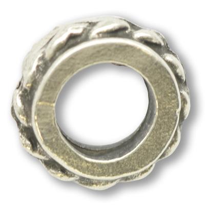 tinringen 10mm oudzilver rond