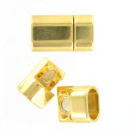 magneetsluitingen 22mm goud rechthoek