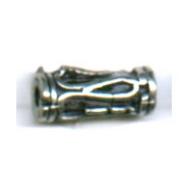 kralen 12mm oudzilver cilinder metaal