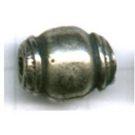 kralen 13mm oudzilver ovaal tin