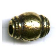 kralen 13mm oudgoud ovaal tin