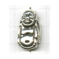 kralen 23mm oudzilver boeddha tin