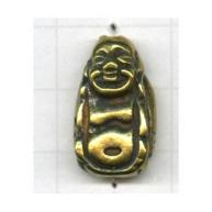 kralen 23mm oudgoud boeddha tin