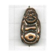 kralen 22mm brons boeddha tin