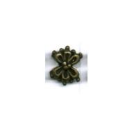 kralen 10mm oudgoud bloem tin
