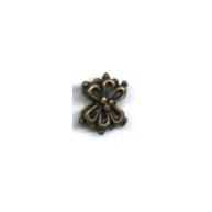 kralen 10mm brons bloem tin