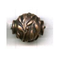 kralen 15mm brons ovaal tin