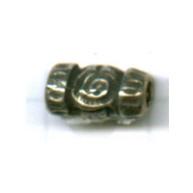 kralen 10mm oudzilver rechthoek tin