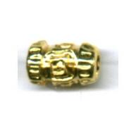kralen 10mm goud rechthoek tin