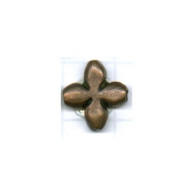 kralen 12mm brons bloem tin
