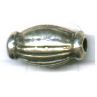 kralen 15mm oudzilver ovaal tin