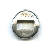 kralen 14mm oudzilver rond tin
