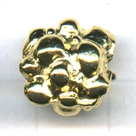 kralen 13mm goud rond tin