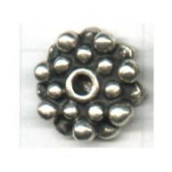 kralen 17mm oudzilver rond tin
