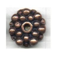 kralen 17mm brons rond tin