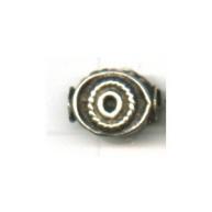 kralen 12mm oudzilver ovaal tin kleurnummer735