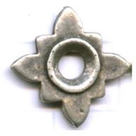 kralen 17mm oudzilver bloem tin