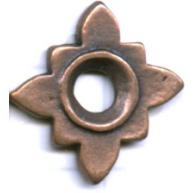 kralen 17mm brons bloem tin
