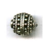 kralen 11mm oudzilver rond tin kleurnummer 735