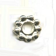 ring bolletjes 10mm zilver rond metaal