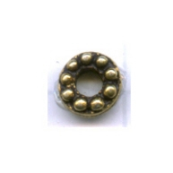 kralen 6mm oudgoud rond metaal