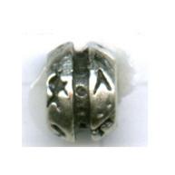 kralen 11mm oudzilver rond tin