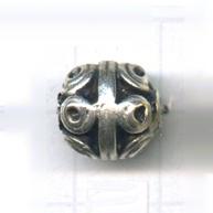 kralen 12mm oudzilver rond tin