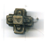 kralen 11mm oudgoud rond tin