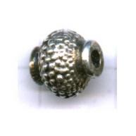 kralen 10mm oudzilver rond tin