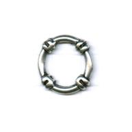 ringen 21mm oudzilver rond metaal