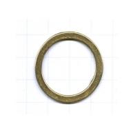ringen 32mm oudgoud rond metaal
