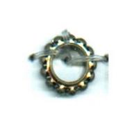 ringen 8mm oudzilver rond metaal