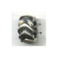 ringen 12mm oudzilver ring rond metaal