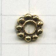 ring bolletjes 10mm oudgoud rond metaal